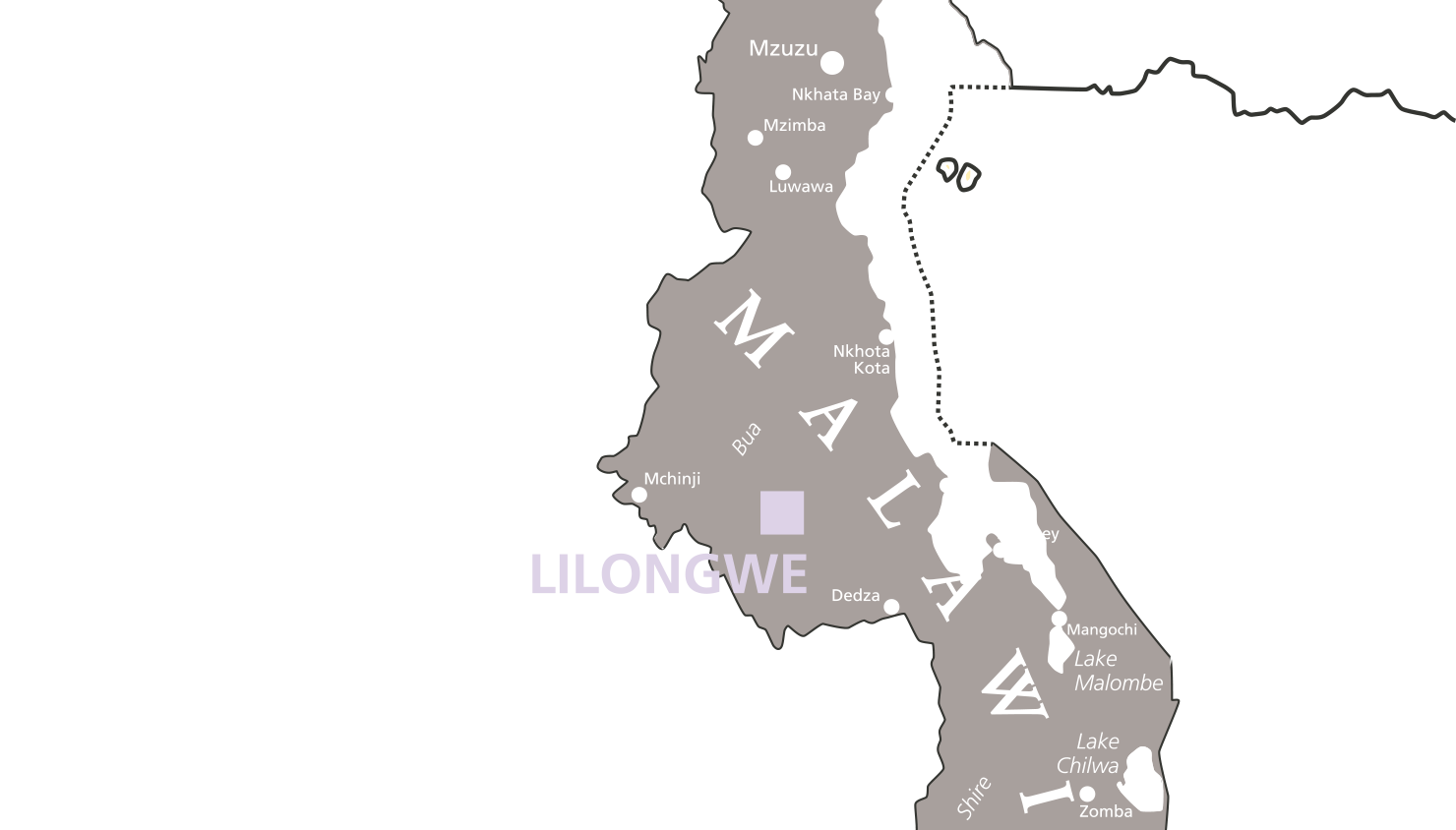Girls Sponsorship Program Lilongwe Malawi The Mordecai Project - Malawi map png